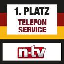 n-tv Testsieger: Bester Telefonservice